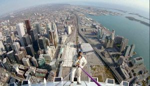 World's First Rope Access Work on Top of the Urban World